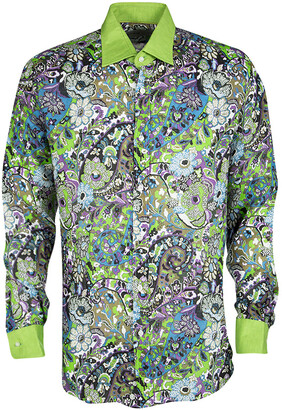 Etro Multicolor Printed Linen Long Sleeve Button Front Shirt L