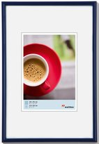 "Camilla And Marc Picture Frame, Walther ""plastic frame """"Galeria"""""" 21x29,7 cm (A4) blue - normal glass 5-pack"