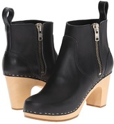 Swedish Hasbeens Zip It Super High Women's Zip Boots