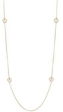 Roberto Coin 18K Yellow Gold Diamond Heart Station Necklace, 31