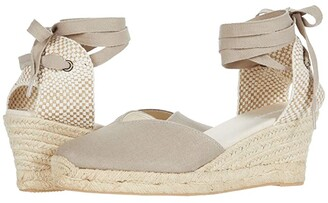 Soludos Lyon Wedge Espadrille (Blush) Women's Shoes