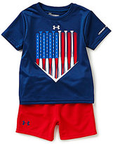 Under Armour Baby Boys 12-24 Months American Batter Americana Tee & Shorts Set