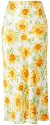 Bec & Bridge Francine floral-print midi skirt