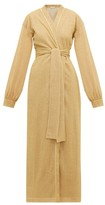Oseree Lumiere Lame Cover Up - Womens - Gold