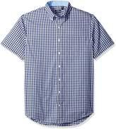Izod Men's Big and Tall Advantage Performance Short Sleeve Check Shirt