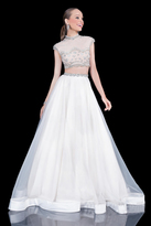 Terani Couture Adorned Jewel Neck Two-Piece A-line Organza Gown 1611P1007A