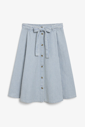 Monki Denim midi skirt