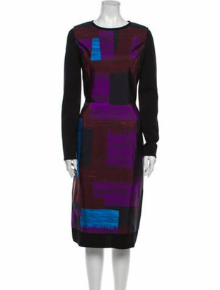 Oscar de la Renta 2012 Midi Length Dress Purple
