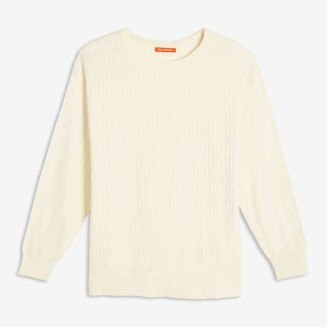 Joe Fresh Women+ Textured Sweater, Off White (Size 2X)