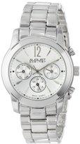 August Steiner Women's AS8087SS Swiss Quartz Multifunction Silver-tone Bracelet Watch