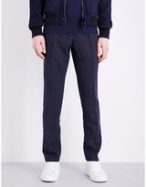 Boglioli Regular-fit Tapered Linen Trousers