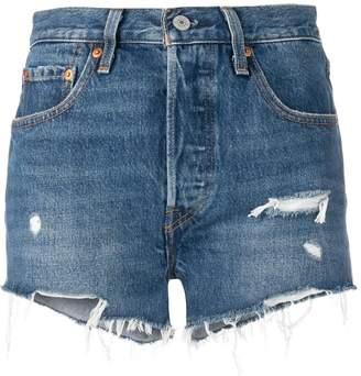 Levi's frayed edge shorts