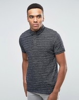 Jack and Jones Polo Shirt With Contrast Collar and Fleck Detail