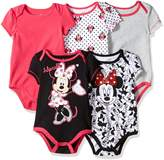 Disney Baby Baby-Girls Newborn Girl Minnie 5 Pack Creeper