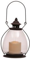10in Hand Blown Glass Led Lantern