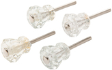 Rejuvenation Set of 4 Small Octagonal Glass Knobs