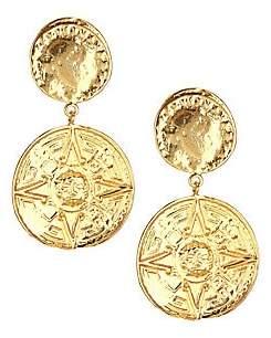 Nest Women's 22K Yellow Goldplated Coin Drop Earrings