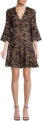 Michael Kors Bell-Sleeve Lace Dress
