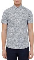 Ted Baker Thorshr Floral Regular Fit Button Down Shirt