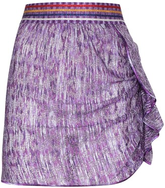 Missoni Mare Metallic Ruffle Detail Mini Skirt