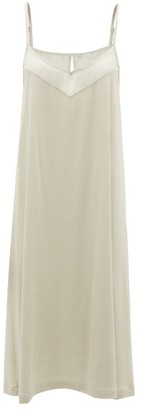 Hanro Alika Modal-blend Slip Dress - Womens - Khaki