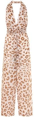 Nanushka Alayna animal-print cotton jumpsuit