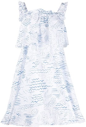 Kenzo Wave Mermaid frilled dress