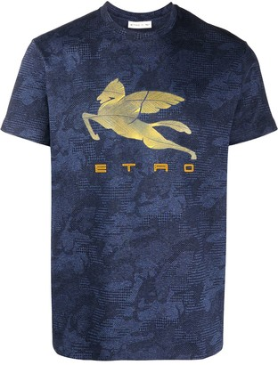 Etro short sleeve regular fit logo T-shirt