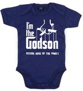 Dirty Fingers, I'm the Godson, future head of the family, Baby Boy T-shirt, 3-6 m, Navy