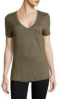 Dex Linen V-Neck T-Shirt