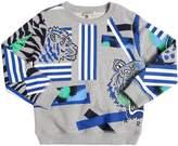 Kenzo Lion & Tiger Printed Cotton Sweatshirt