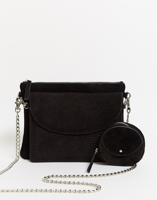 Urban Code Urbancode leather cross body bag with removable clutch and coin purse