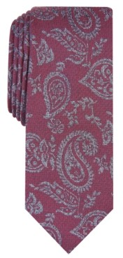 Bar III Men's Glenn Pine Paisley Skinny Tie, Created for Macy's