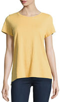 Eileen Fisher Short-Sleeve Organic Cotton Tee, Plus Size