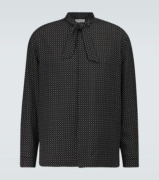 Saint Laurent Lavalliere neck-tie silk shirt