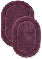 Superior 2-Piece Cotton Oval Non -Skid Bath Rug Set