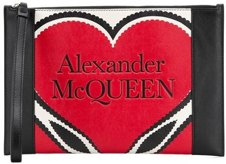 Alexander McQueen Heart Motif Clutch Bag