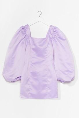 Nasty Gal Womens Big Heart Satin Mini Dress - Purple - 14