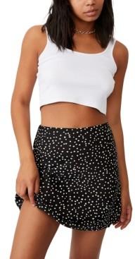 Cotton On Women's Simple Slip Mini Skirt