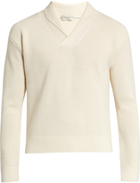 Lemaire Shawl-collar wool sweater