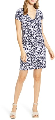 Tommy Bahama Bimini Ikat Cowl Neck Dress