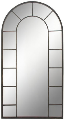 """Brimfield And May Large Arched Window Wall Mirror, 32""""x60"""""""