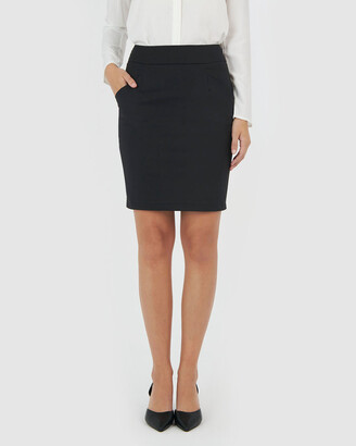 Forcast Women's Black Pencil skirts - Sandy Pencil Skirt - Size One Size, 6 at The Iconic