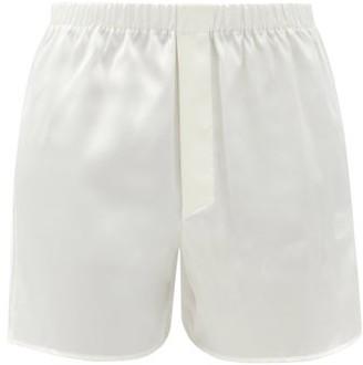 Ludovic de Saint Sernin Silk-satin Boxer Shorts - White