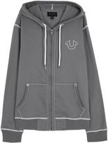 True Religion Grey Cotton Blend Sweatshirt