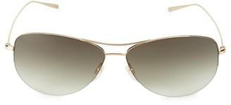 Oliver Peoples Strummer 63MM Aviator Sunglasses