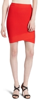 BCBGMAXAZRIA Women's Front Crossover Mini Power Skirt