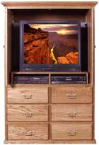 Forest Designs Traditional TV Armoire: Shown Open