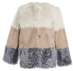 The Fur Salon Women's Shearling & Nappa Leather Reversible Colorblock Jacket