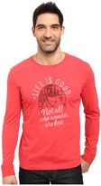Life is Good Not All Who Wander Are Lost Tent Long Sleeve Crusher Tee